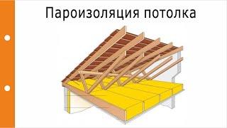 видео Пароизоляция потолка бани
