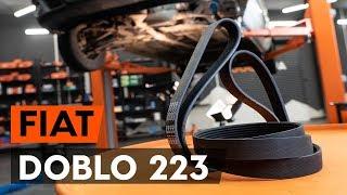 Come cambiare Cinghie servizi FIAT DOBLO Cargo (223) - video tutorial
