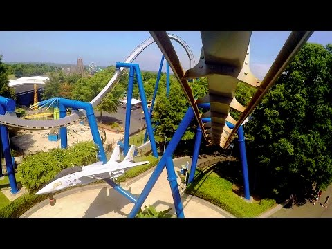 Afterburn front seat on-ride HD POV @60fps Carowinds