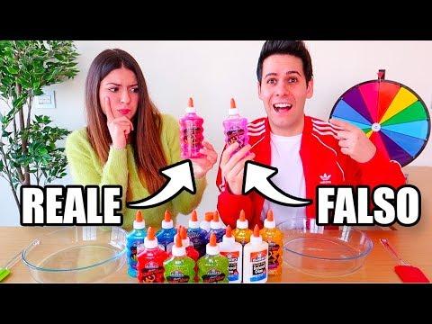 REALE vs FALSO SLIME CHALLENGE!
