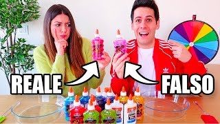 REALE vs FALSO SLIME CHALLENGE!