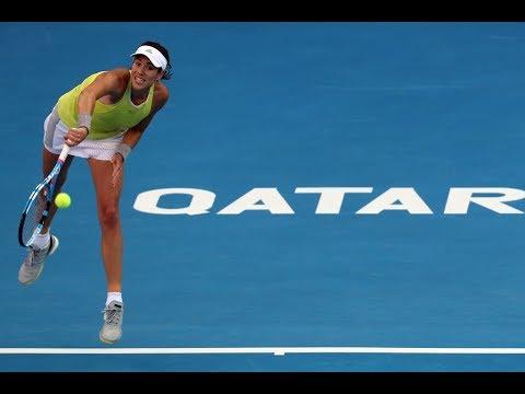 2018 Qatar Total Open Quarterfinals | Garbiñe Muguruza vs. Caroline Garcia | WTA Highlights