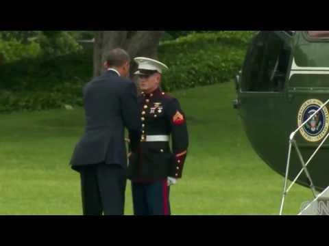 Obama Caught ignoring Marine's SALUTE