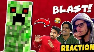 Indian Gamers Reaction To Creeper Blast | Live Insaan, Techno Gamerz | Battle Factor