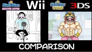 WarioWare Smooth Moves vs WarioWare Gold Microgame comparison.