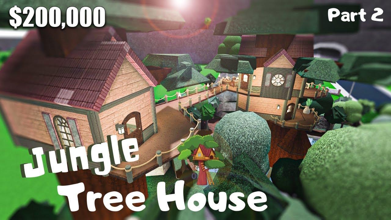 Bloxburg Jungle Tree House House Build Roblox Part 2 2
