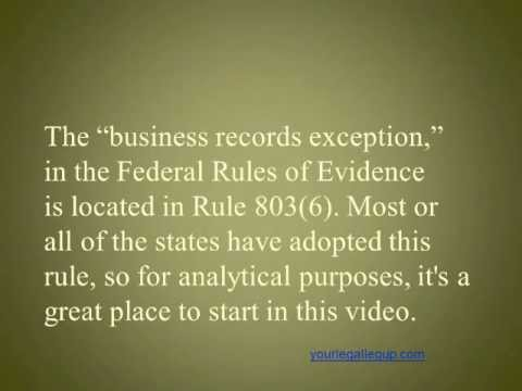 """hearsay and the exceptions in civil Rule 803 defines when hearsay statements are admissible in evidence even though the declarant is available as a witness the senate amendments make three changes in this rule the house bill provides in subsection (6) that records of a regularly conducted """"business"""" activity qualify for admission into evidence as an exception to the hearsay."""