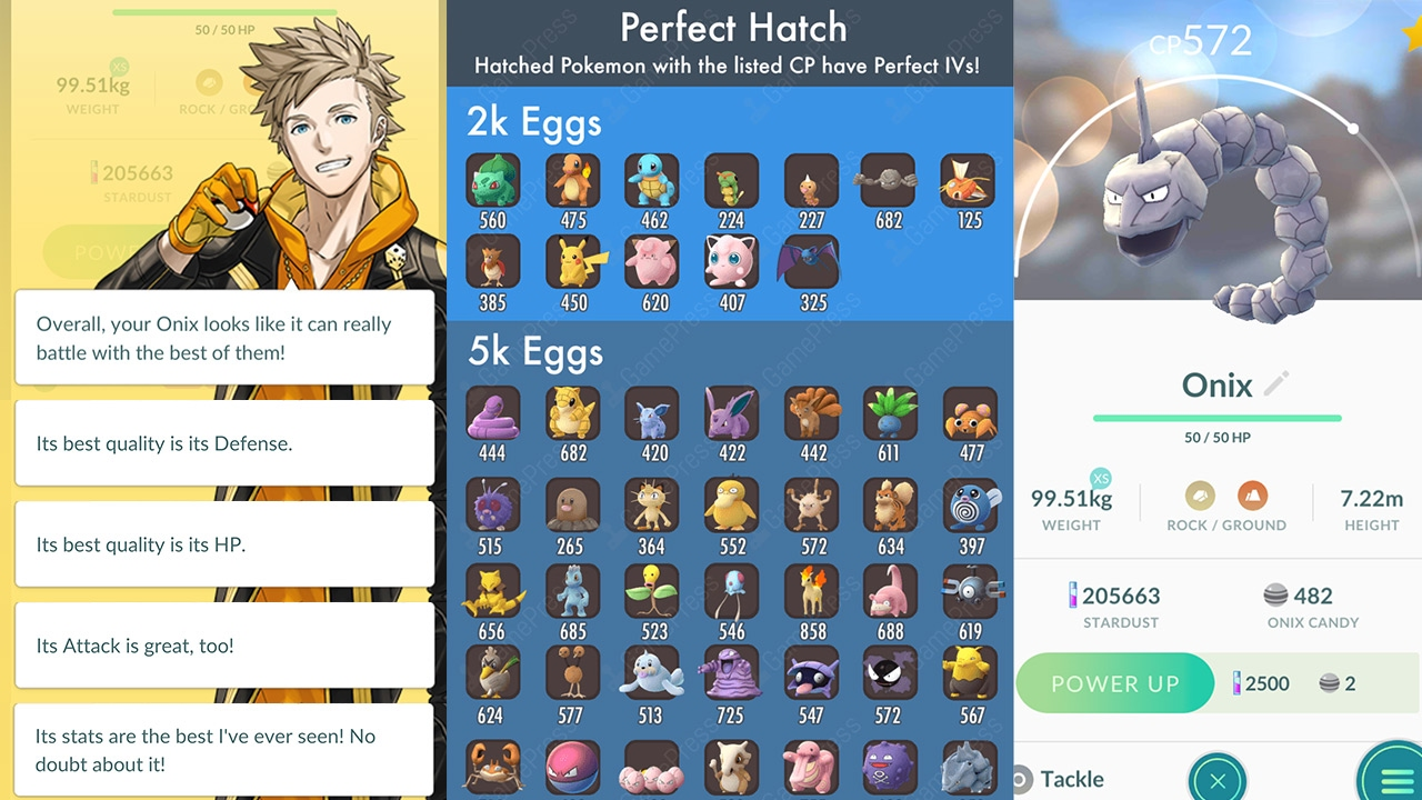 100% IV ONIX HATCHED! Pokemon GO Egg Hatching Chart! Perfect IVs Egg Chart