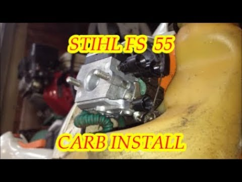 STIHL TRIMMER  /  FS 55 R CARBURETOR INSTALL  /  TOOL MODIFICATION  /  FINAL ADJUSTMENTS