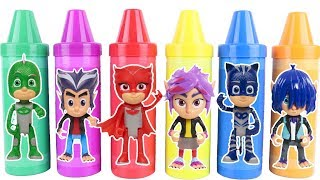 Learn Characters with PJ Masks Toys Collection with Catboy, Owlette and Gekko