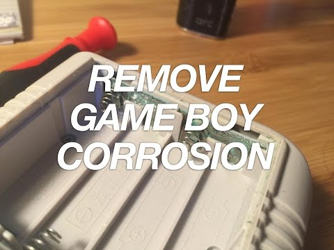 Cleaning the Original Game Boy's Battery Terminals to Remove Corrosion (And Fix Your Gameboy!)