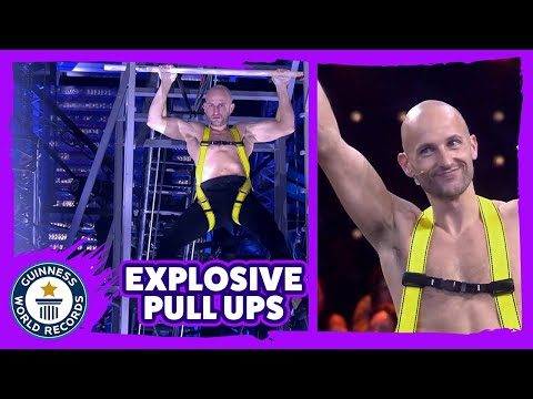 Fastest explosive pull up ascent (7 m) - Guinness World Records Italian Show