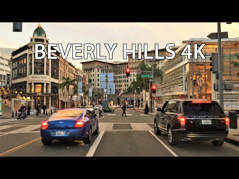 Driving Downtown - Rodeo Drive 4K - Beverly Hills USA