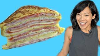 MONTE CRISTO - ham & cheese FRENCH TOAST sandwich   How to Make STRAWBERRY FREEZER JAM