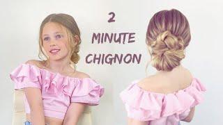 2 minute Braided Chignon