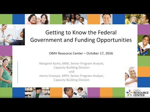 Getting to Know the Federal Government and Funding Opportuni