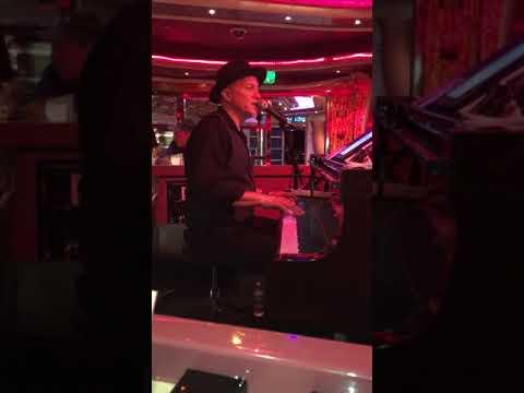 Goin' to California cover by Gregg Akkerman in a cruise ship piano bar