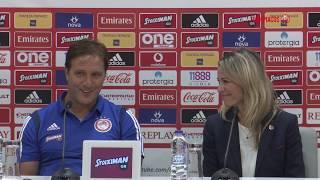 Συν. Τύπου κ. Μαρτίνς (Ολυμπιακός - Βικτόρια Πλζεν) / Press Conf. (Olympiacos - Viktoria Plzeň)