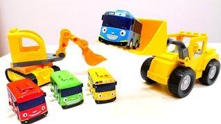 Мультики для детей - Автобус Тайо - Приключения на стройке