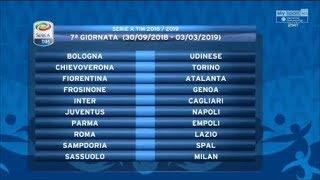 Calendario Serie A 2018/2019