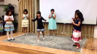 Nikki dance  at Farsi class celebration