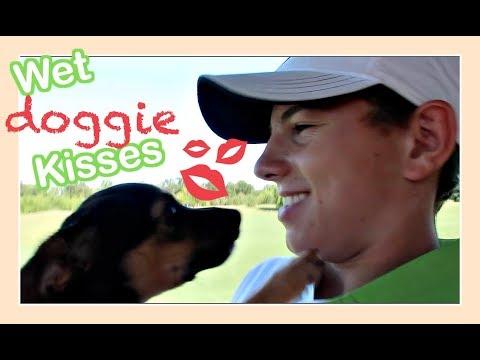 WET DOGGIE KISSES | Flippin' Katie