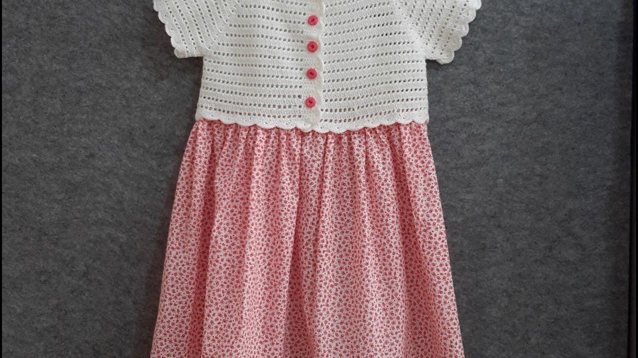1e56aa4fc30d6 Robalı Kız Çocuğu Elbisesi (Tığ İşi) - YouTube