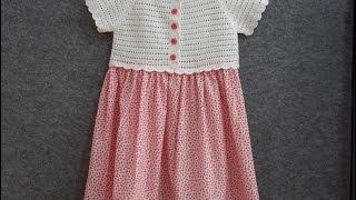 Robalı Kız Çocuğu Elbisesi (Tığ İşi)