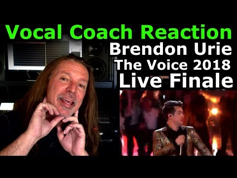 Vocal Coach Reaction to Brendon Urie - The Voice 2018 Live Finale - Ken Tamplin Vocal Academy
