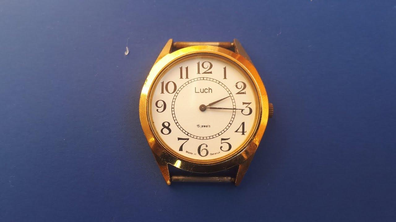 b447ccb6b201 Vintage watch Soviet Republic of Belarus Wrist Watch LUCH - YouTube