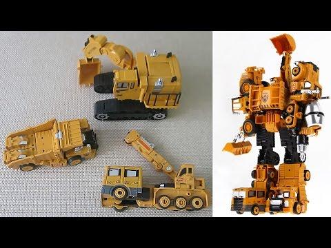 Трансформеры строительные машины из Китая.  Экскаватор - Титан, Кран, Самосвал
