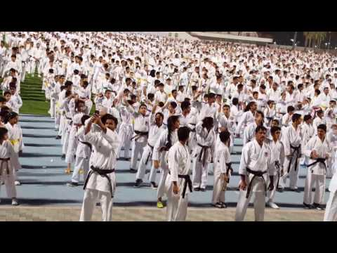 attempt for guinness world record for largest kata performance uae