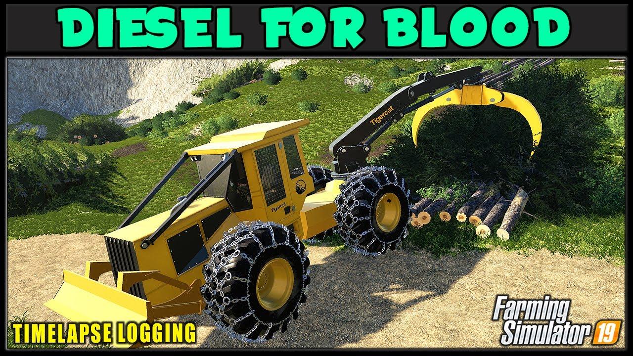Testing Tigercat Swing Boom Skidder ⛽ DFB #18 ⛽ ✔ Farming Simulator 2019 ✔ FDR Logging