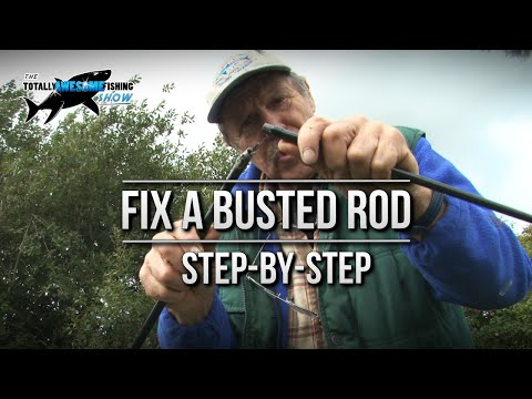 How to Fix a Busted Fishing rod | TAFishing