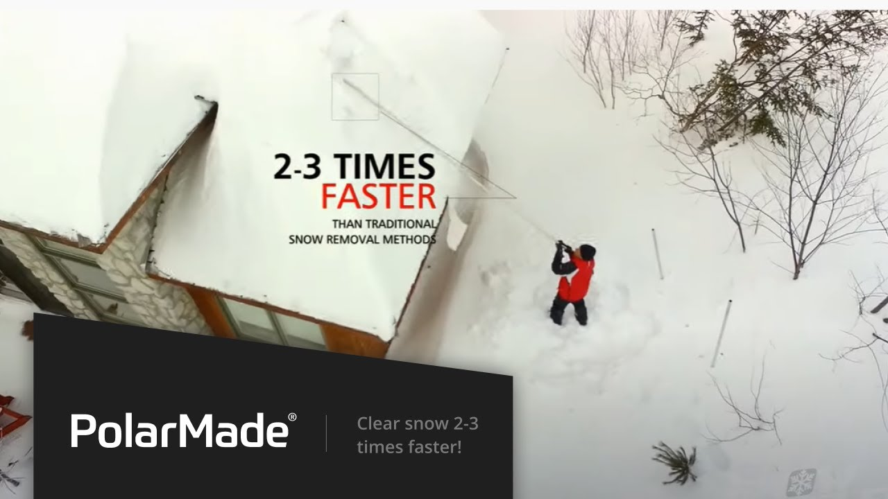 Snowpeeler Roof Rake Clears Snow 2 3 Times Faster Youtube