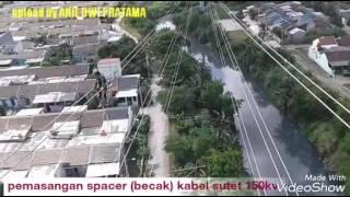 Pemasangan spaser kabel sutet 150 kv part 1