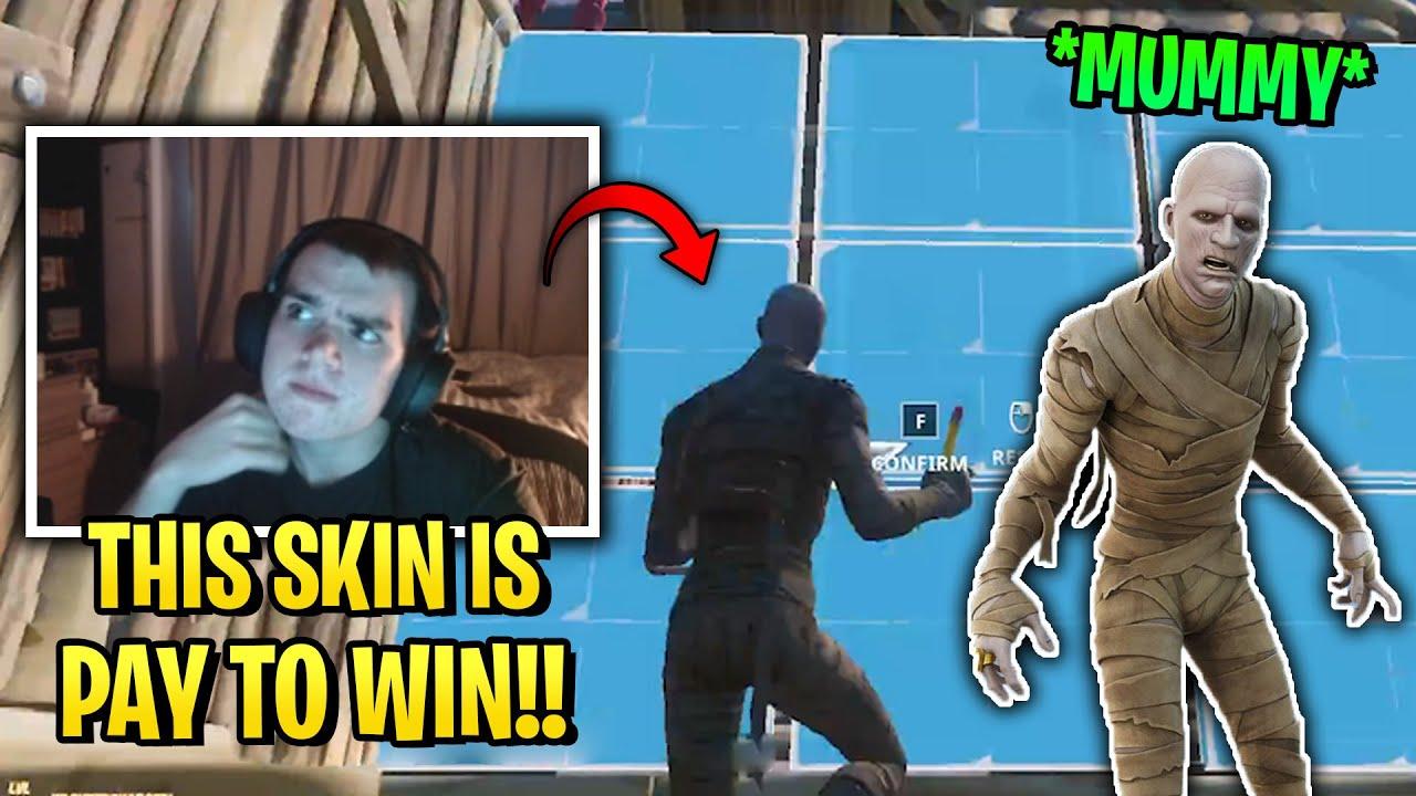 Tayson SHOWS OFF HIS FASTEST EDITING SKILLS with Mummy Skin in Fortnite! *Season 8*
