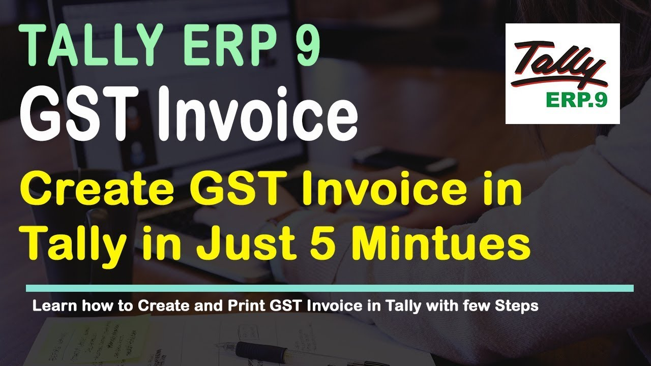 How To Create Sales Invoice In Tally Release 6 For Gst Youtube
