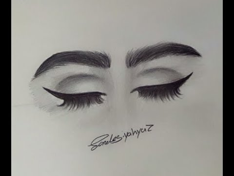 How to draw closed eyes step by step beginner friendly كيف ترسم عيون مقفلة خطوة خط