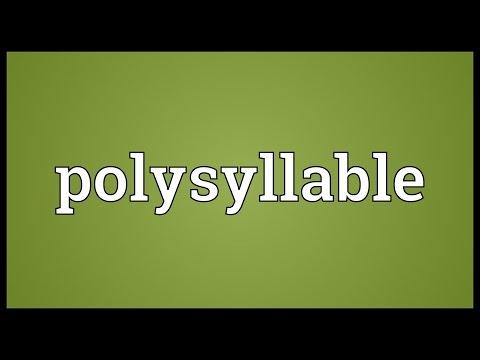 Header of polysyllable