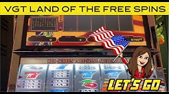 High Limit VGT 9 LINE - LIVE PLAY - LAND OF THE FREE SPINS! Red Spins!