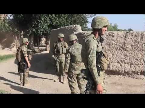 Georgian Army patrols Afghanistan with Marines