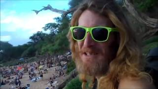 Little Beach  on Maui with Krazy Red 1
