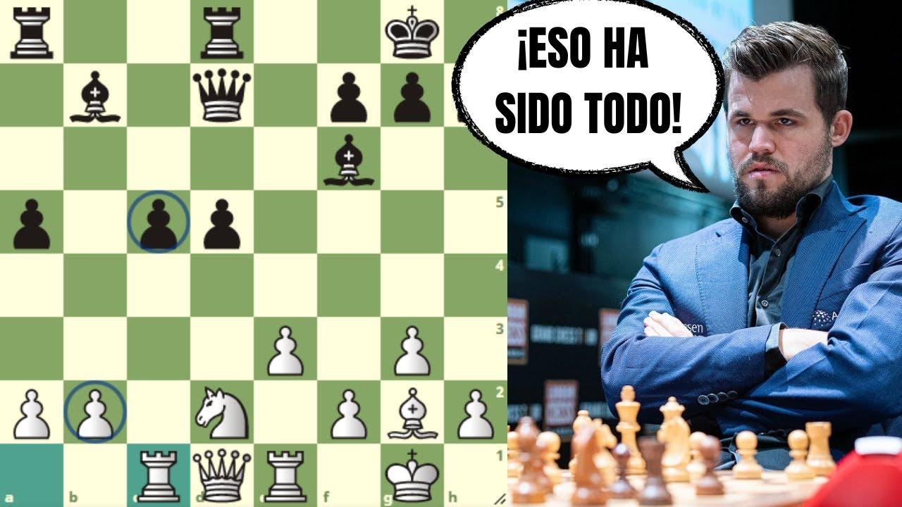 ¡PARTIDA DE AJEDREZ MUY CORTA! 😐: Carlsen vs Esipenko (Copa del Mundo FIDE)