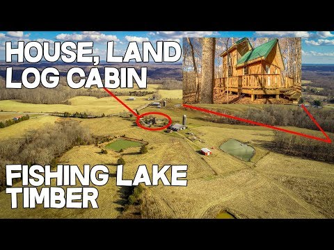 House And Land, Off Grid Log Cabin / Tiny House For Sale 151 Acres, Fishing Lake KY