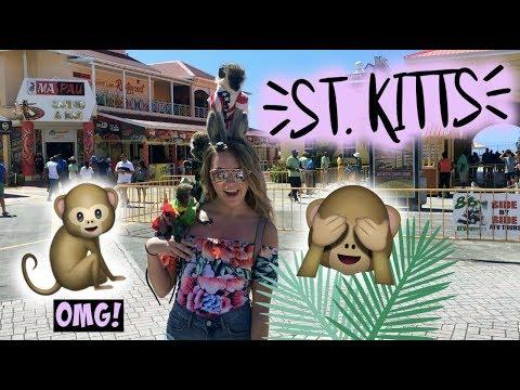 CARNIVAL CRUISE 2018 DAY 6! | HOLDING MONKEYS IN ST  KITTS + KARAOKE NIGHT!!