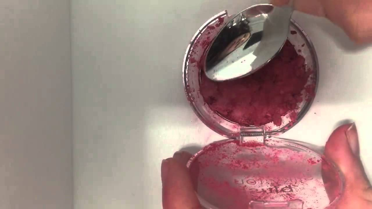 how to fix broken blush or face powder - YouTube