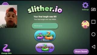Fui jogar Slither.io O E OLHA NO QUE NAO DEU