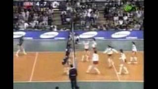 WC1995世界盃女排→日本vs中國-大林素子雙快掩護的motoko special