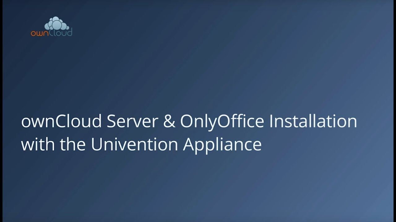 7 easy steps to set up an ownCloud appliance – ownCloud